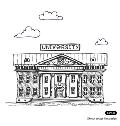 University building vector image vector image