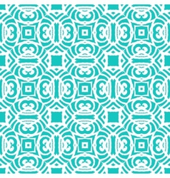 Vintage art deco pattern in aqua blue vector