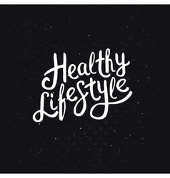 White healthy lifestyle phrase on abstract black vector
