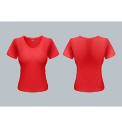 Woman t-shirt vector image