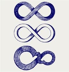 Infinity symbol vector