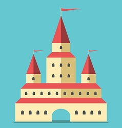 Beautiful castle flat style vector