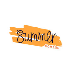 summer coming vector image