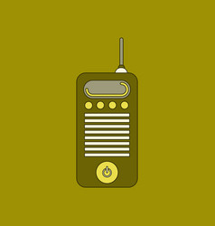 flat icon on background old cell phone vector image