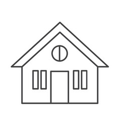 Thin line house icon vector