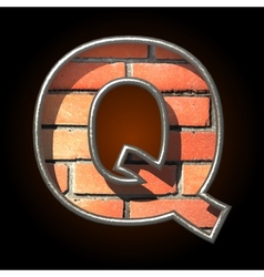 Brick cutted figure q vector