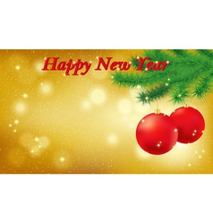 Happy new year gold background vector