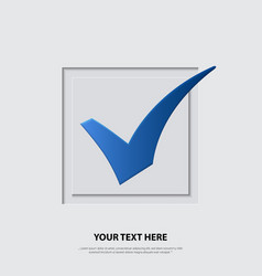 blue checkmark vector image