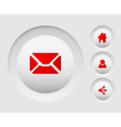 Set of simple web circle buttons home share users vector image