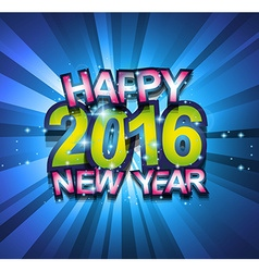 2016 Happy New Year Background for your Flyers vector image