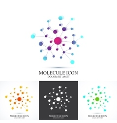 Modern set logotype icon dna and molecule vector