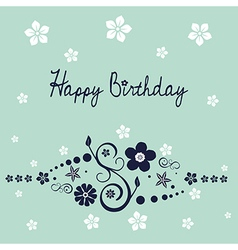 Floral birthday wish vector