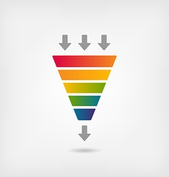 rainbow color marketing funnel vector image