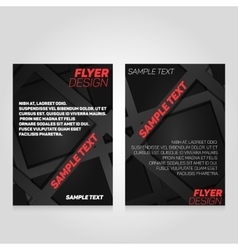 Brochure flier design template concert vector