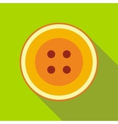 Color sewn button icon flat style vector