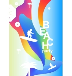 Abstract creative colorful party flyer vector