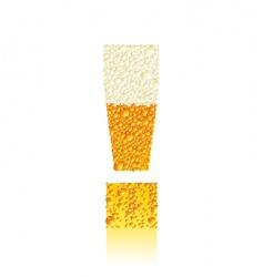 alphabet beer vector image