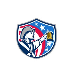 American Patriot Craft Beer Mug USA Flag Crest vector image vector image
