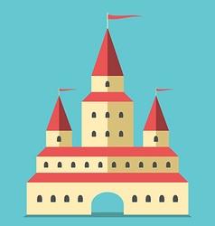 Beautiful castle flat style vector