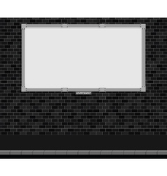 Blank advertising board vector