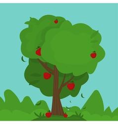 cartoon abstract apple tree vector image