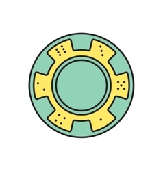 chip icon Eps10 vector image