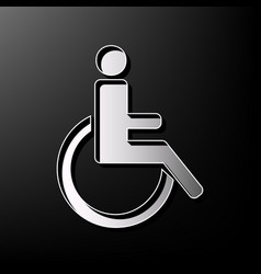Disabled sign gray 3d vector
