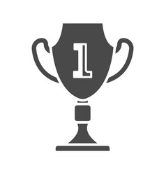 first place cup isolated on white icon vector image
