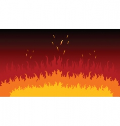 flames and fire vector image vector image