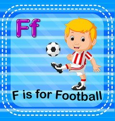 Flashcard letter f is for football vector