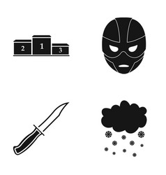 Go became a mask and other web icon in black style vector