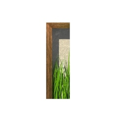 Grass cutted figure i paste to any background vector