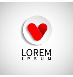 Hearts logo design Valentines Day vector image vector image