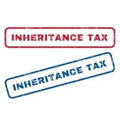 Inheritance tax rubber stamps vector