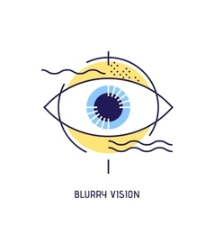 Modern thin line icons of blurry vision vector