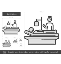 Nursing line icon vector
