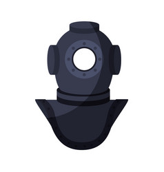 Old scuba mask vector
