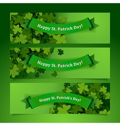 patrick leaves banners vector image vector image
