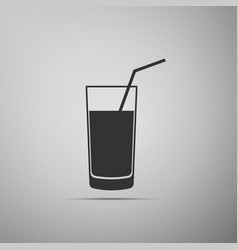 soft drink icon isolated on grey background vector image