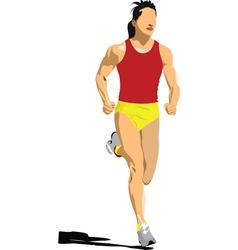 sprinter vector image vector image