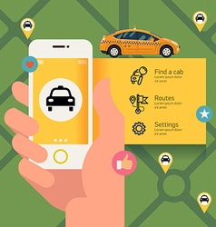 Taxi app for a phone vector