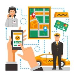Taxi service conceptual vector