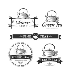 Tea labels vector image vector image