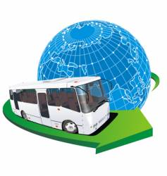 Tourist bus travel vector