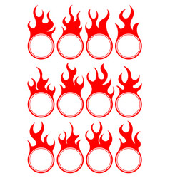 twelve fire icon vector image vector image