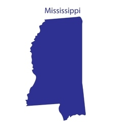 United States Mississippi vector image
