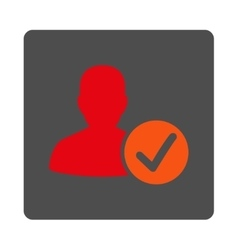 Valid patient rounded square button vector