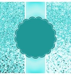 Blue glitter sparkles snowflakes background EPS 8 vector image