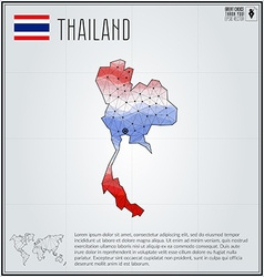 Thailand map in geometric polygonal style vector