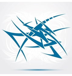 Abstract blue tattoo vector